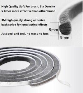 Draught Excluder Brush 5M 10M Pile Seal Door Window Self Adhesive Sealing Strip