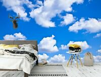 3D Sky White Clouds R1275 Wallpaper Wall Mural Self-adhesive Commerce Amy