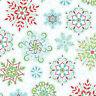 By 1/2 Yard Amanda Murphy Sparkle ~ Snowflakes White Benartex Christmas Fabric