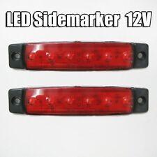 2x 12v LED ROJO Lateral Marcador FARO Camión Trailer Camión caja caravana
