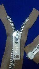 "10-ZIPPERS/USA/VTG/CROWN COATS CLARK#10/jacket-SEPARATING Metal 21""/L.BRN/COTTON"
