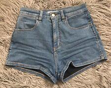 Wrangler Hi Cheeky Shorts High Waisted Blue Denim 9 Preowned