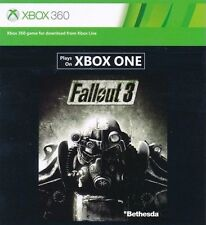 Fallout 3 Microsoft Xbox One & XBOX 360 DOWNLOAD CARD FULL GAME