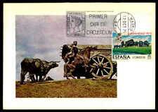 SPAIN MK 1975 HISPANIDAD URUGUAY MONTEVIDEO DENKMAL OCHSEN MAXIMUMKARTE MC df66