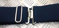 Genuine British Royal Navy Blue Stable belt with Metal Slide Buckle All Sizes