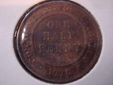 Australia 1920 Half Penny 8 Pearls  #BX1