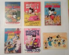 6 carte postale postcard Mickey Mouse   Walt Disney