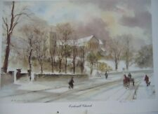 SHEFFIELD SCENES ECCLESALL CHURCH DN BROPHY  33 X 24 CM SIGNED LIMITED ED #NS#