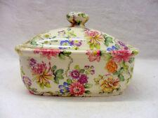imari butterdish by Heron Cross Pottery