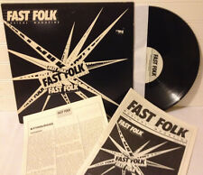 Fast Folk /Musical Magazine vinyl record LP Jan.'86 excellent + w/Richie Havens