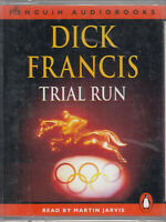 Trial Run Dick Francis 2 Cassette Audio Book Abridged Thriller Martin Jarvis