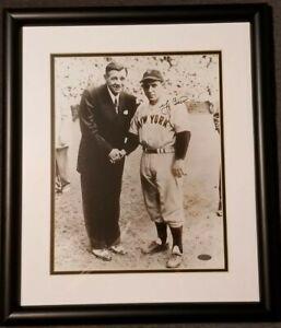 Yogi Berra signed Steiner Sports Framed Rookie Photo with Babe Ruth NY Yankees