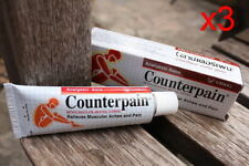 3 x 120 g Counterpain Red Warm Hot Relieves Muscular Pain Massage Analgesic Balm