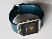 LARGE Fitbit BLAZE Smart Fitness Watch WITHOUT CHARGER - Blue Silver - USED