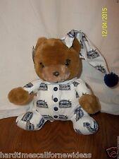 "Genuine Houston Astros Teddy Bear In Pajamas Plush 8"" With Tag"