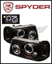 Spyder Ford Ranger 01-11 1PC Projector Headlights LED Halo LED Blk