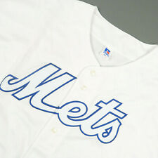 Vintage New Russell Athletic Ny Mets White Baseball Jersey Size 3Xl
