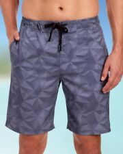 SPYDER Mens Silver Gray Geometric Board Shorts Bathing Suit NWT $70 Size S