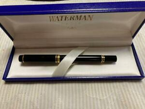 Waterman fountain pen 18KM black x gold color with box KH09127