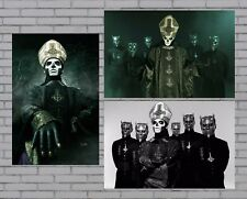 "Ghost Ceremony and Devotion Poster Set of 3 Papa Emeritus Ghouls 12x18"" New"