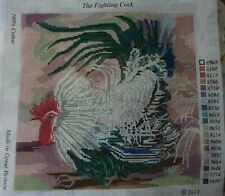 The Fighting Cock Printed Tapestry/Needlepoint Canvas By Dorcas Willow.New.