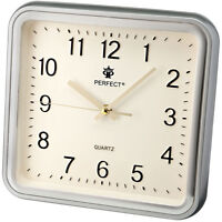 Square Wall Clock PERFECT , Non-Ticking , Classic Design