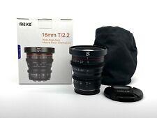 Meike 16mm T2.2 Mini Prime Cinema Lens Micro4/3 MFT  - NEW USA WARRANTY -BMPCC4K
