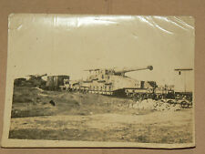 Photo Ancienne Train Blindé Canon Guerre 39/45   Allemand ?