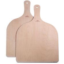 2x Wood Pizza Peel Shovel Paddle Pancake Baking Wood Handle Tray 42cm*30cm NEW