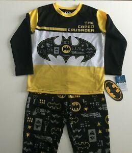 New 2PC BOYS DC Comic Batman the Caped Crusader SLEEPWEAR PAJAMA SET- SIZE 4/5