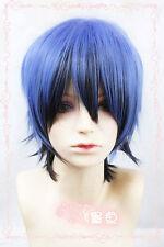 Riddle Story of Devil Tokaku_Akuma Ice Blue Gradual Change Dark Blue Cosplay Wig