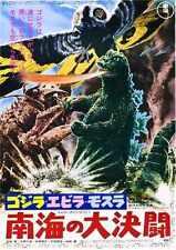 Godzilla Vs Monstruo Marino Cartel 02 A2 Caja Lona Impresión