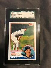1983 Topps #498 Wade Boggs SGC 92 NM/MT+ Boston Red Sox RC Rookie Baseball Card