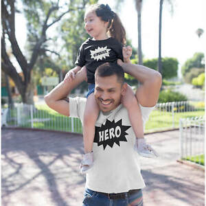 Father and Son matching t-shirts Hero & Sidekick Fathers day Gift Personalised
