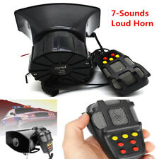 300db Loud Alarm Horn Car Van Truck 7-Sound Tones Warning Speaker +PA System Mic