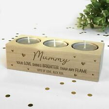 Personalised Tealight Candle Holder For Mum, Mummy, Nanny, Grandma Birthday Gift