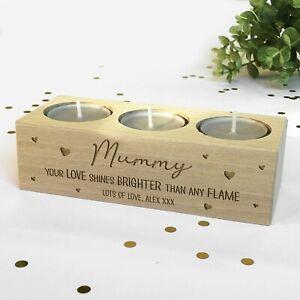 Personalised Tealight Candle Holder For Mum, Mummy, Nanny, Grandma Birthday Gift