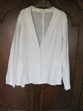 Eileen Fisher Notch Collar Panel Jacket-Handkerchief Linen-White-Sz 2X-NWT $238