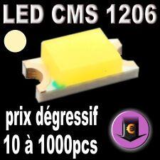 111# LED CMS 1206 blanc chaud  500mcd de 10 à 1000pcs