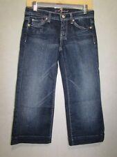 SEVEN FOR ALL Mankind Dojo DENIM Blue Capri/Cropped Stretch Jeans SZ 26