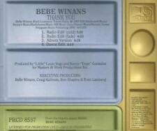 Bebe Winans: Thank You PROMO MUSIC AUDIO CD Radio & Dance Edits Album PRCD 8537