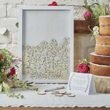 Wedding Guest Book RRP £14.99 Clearance White With Silver//Grey Birds Design