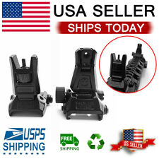 Low Profile Flip-up Metal Tactical Sight Folding Sights Front and Rear Set USA