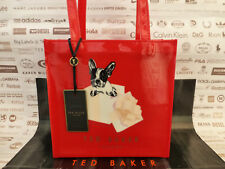 Ted Baker French Bull Dog in Crown Icon Tote SHOPPER Bag Roycon Baby Pink