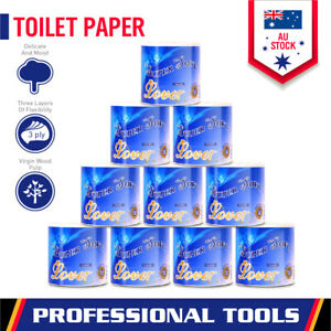 10-Roll Premium Toilet Paper Rolls 3-PLY Soft Bath Tissue Value Pack Local Stock