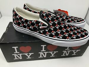 NEW Vans I Love NY Classic Slip On The General New York Mens Size 10.5 Womens 12