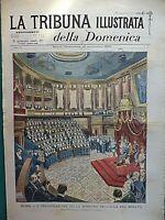 1899 ROMA INAUGURAZIONE SENATO MACCHINA PER VOTARE TRIESPOLI CONTE DI TORINO