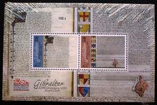 100 x Gibraltar 2015 Block 123 ** MNH Magna Carta Michel 1300,-- €. Engros