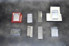 huit briquets anciens, Silver match, Imco, Sim, Heit,ColiBri, autoluxe vintage