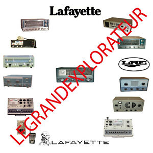 Ultimate Lafayette Radio Operation Repair Service Manual & Schematics  on DVD
